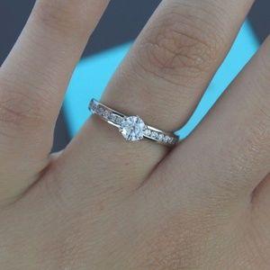 Jewelry - 1.5 Carat Chanel Set Moissanite Ring